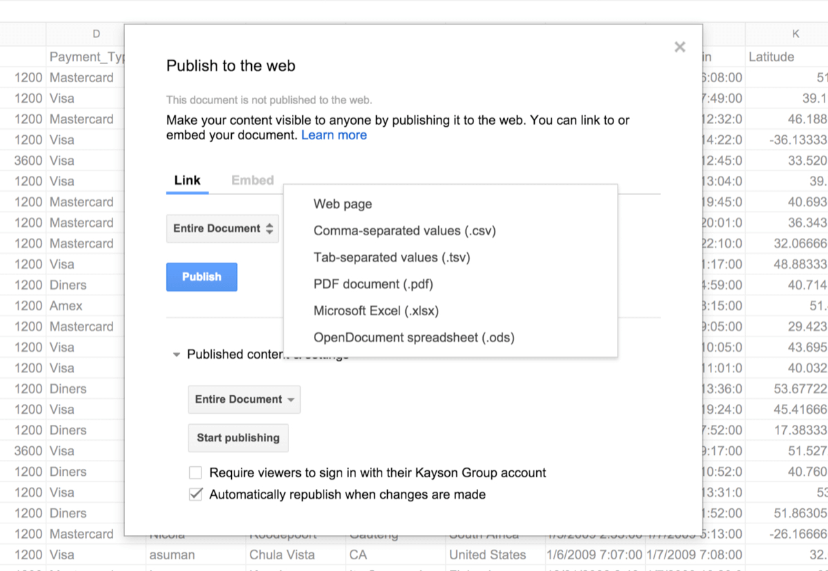 How To Share Google Spreadsheet For Integrate Phpgrid With Google Spreadsheets  Phpgrid  Php Datagrid