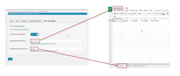 How To Spreadsheet Intended For How To Configure Your Spreadsheet With Cf7 To Spreadsheet Plugin