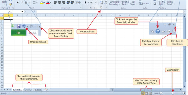 How To Use Excel 2010 Spreadsheets Pertaining To An Overview Of Microsoft® Excel®