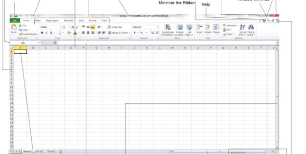 How To Use Excel 2010 Spreadsheets With Excel For Noobs Tutorial: A Description Of The Different Parts Of An