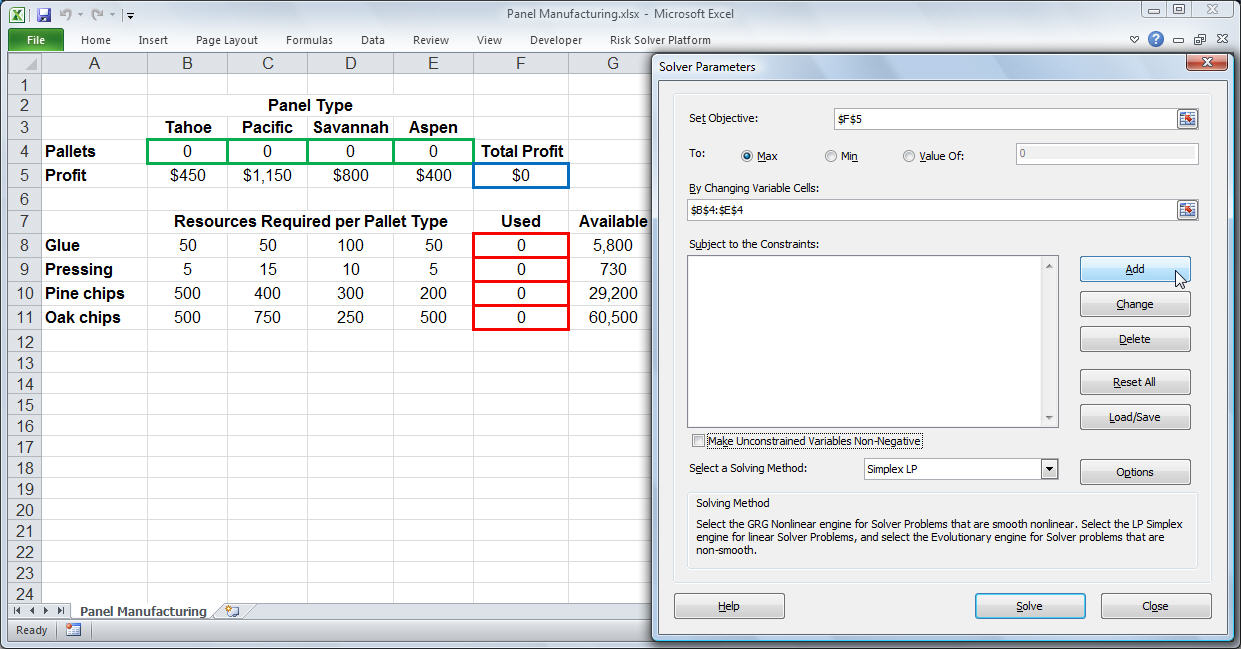 How To Use Microsoft Excel 2010 Spreadsheet Intended For Excel Solver Tutorial  Stepstep Easy To Use Guide For Excel's