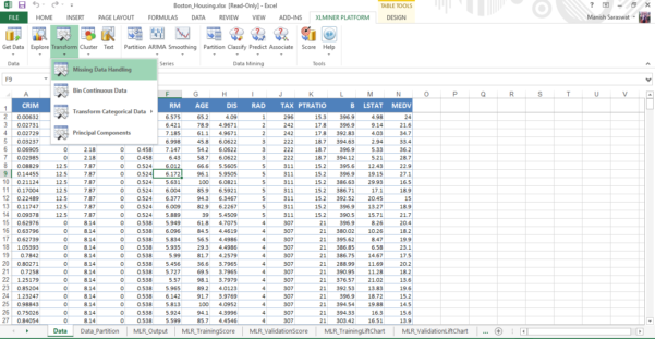How To Use Microsoft Excel 2010 Spreadsheet Within Getting Started With Machine Learning In Ms Excel Using Xlminer