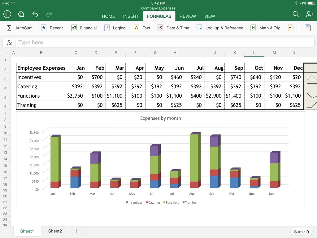 How To Use Microsoft Excel Spreadsheet Regarding Excel For Ipad: The Macworld Review  Macworld