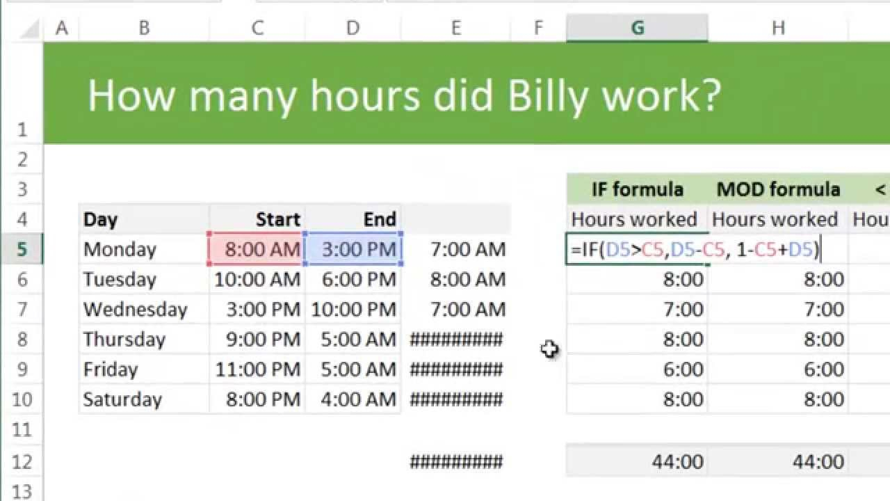 How To Work On Excel Spreadsheet Within Working Hours Calculation In Excel Sheet Work Calculator Spreadsheet