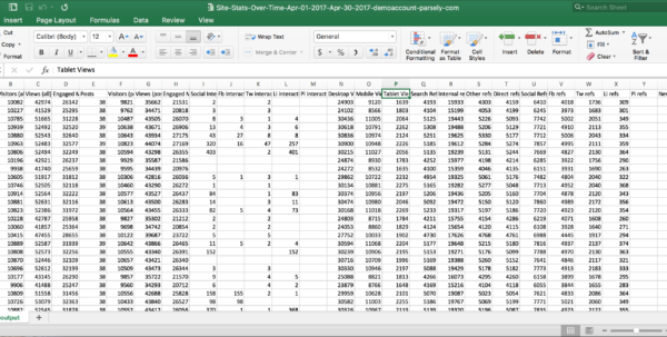 Html Spreadsheet Form Intended For What's The Difference Between Html, Csv, And Xlsx?  Parse.ly