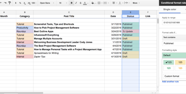Html Spreadsheet Intended For Write Faster With Spreadsheets: 10 Shortcuts For Composing Outlines Html Spreadsheet Google Spreadsheet