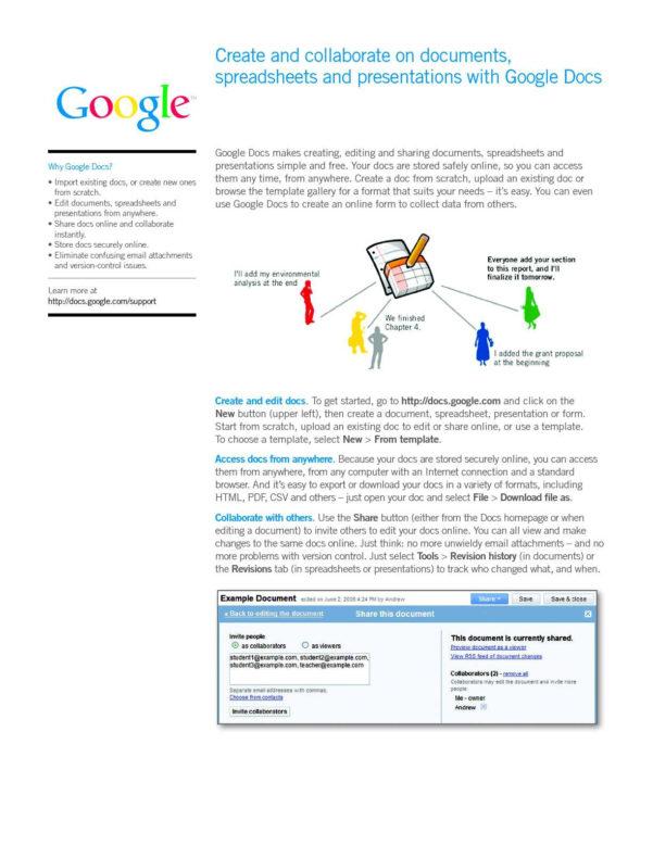 Http Docs Google Com Spreadsheet View Form For Calaméo  Google Docs Start Guide
