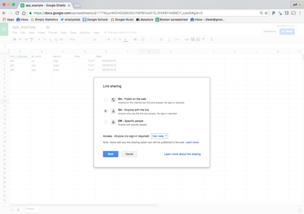 """Https Docs Google Spreadsheets Edit For How To Create A Free Distributed Data Collection """"app"""" With R And"""