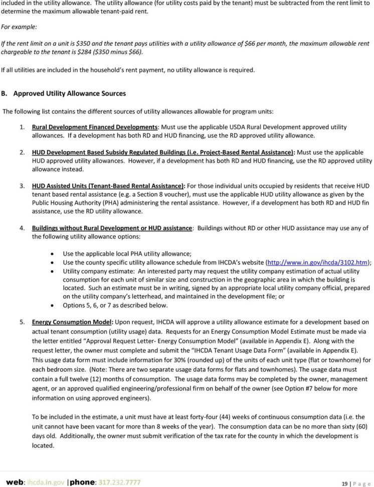 Hud Utility Allowance Spreadsheet In Federal Programs Home, Cdbg, Nsp Ongoing Rental Compliance Manual