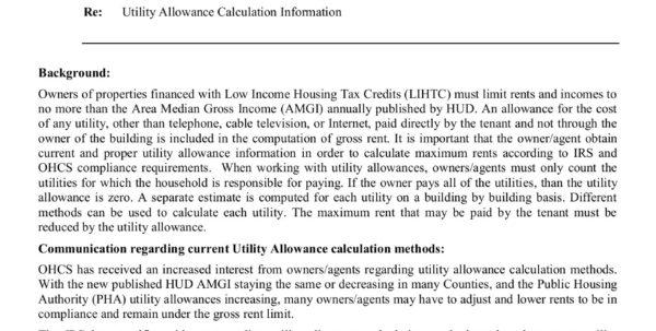 Hud Utility Allowance Spreadsheet Regarding Oregon Pages 1  4  Text Version  Fliphtml5