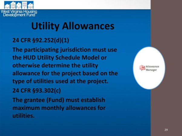 Hud Utility Allowance Spreadsheet Within Home  Htf Updates.  Ppt Download
