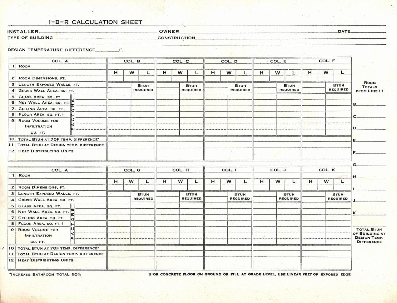 Hvac Load Calculation Spreadsheet Inside Load Calculation Spreadsheet For Hvac Load Calculation Spreadsheet