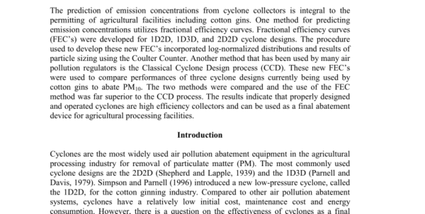 Hydrocyclone Design Spreadsheet Pertaining To Pdf Theoretical Study Of Cyclone Design