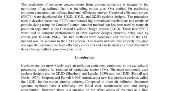 Hydrocyclone Design Spreadsheet Pertaining To Pdf Theoretical Study Of Cyclone Design