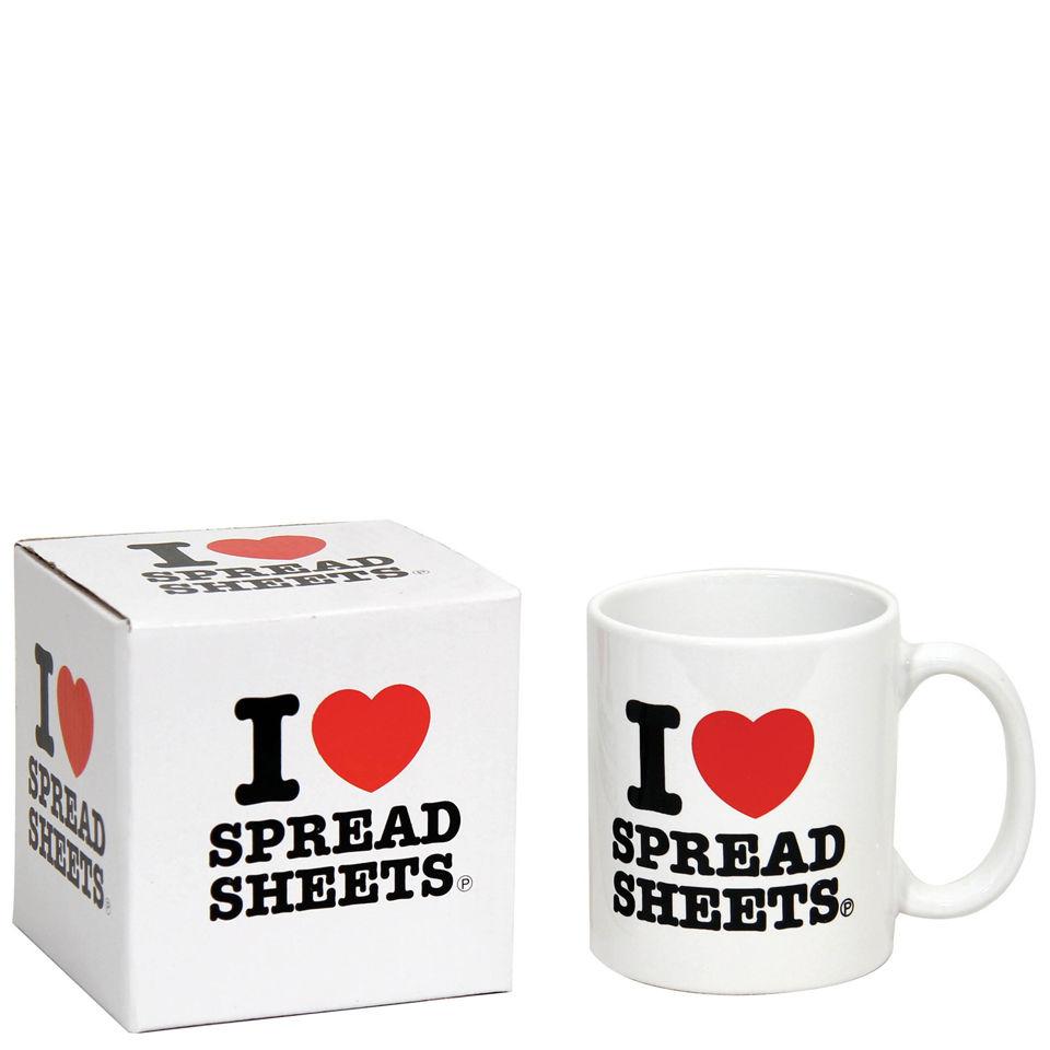 I Love Spreadsheets Gifts Pertaining To I Love Spreadsheets Mug Traditional Gifts  Zavvi Australia