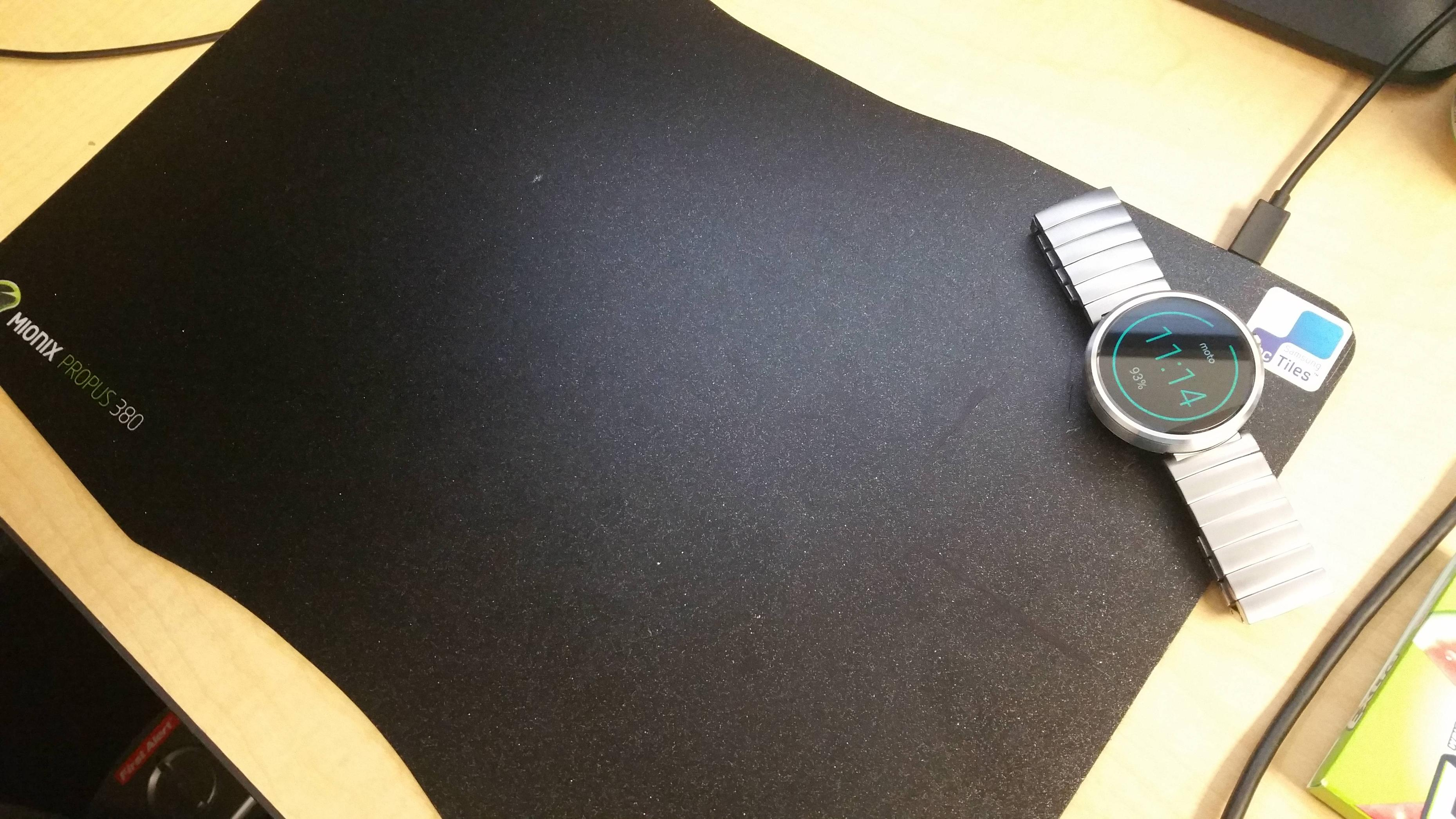 I Love Spreadsheets Mouse Mat With Regard To Built A Wireless Charger Into My Mousepad : Androidwear