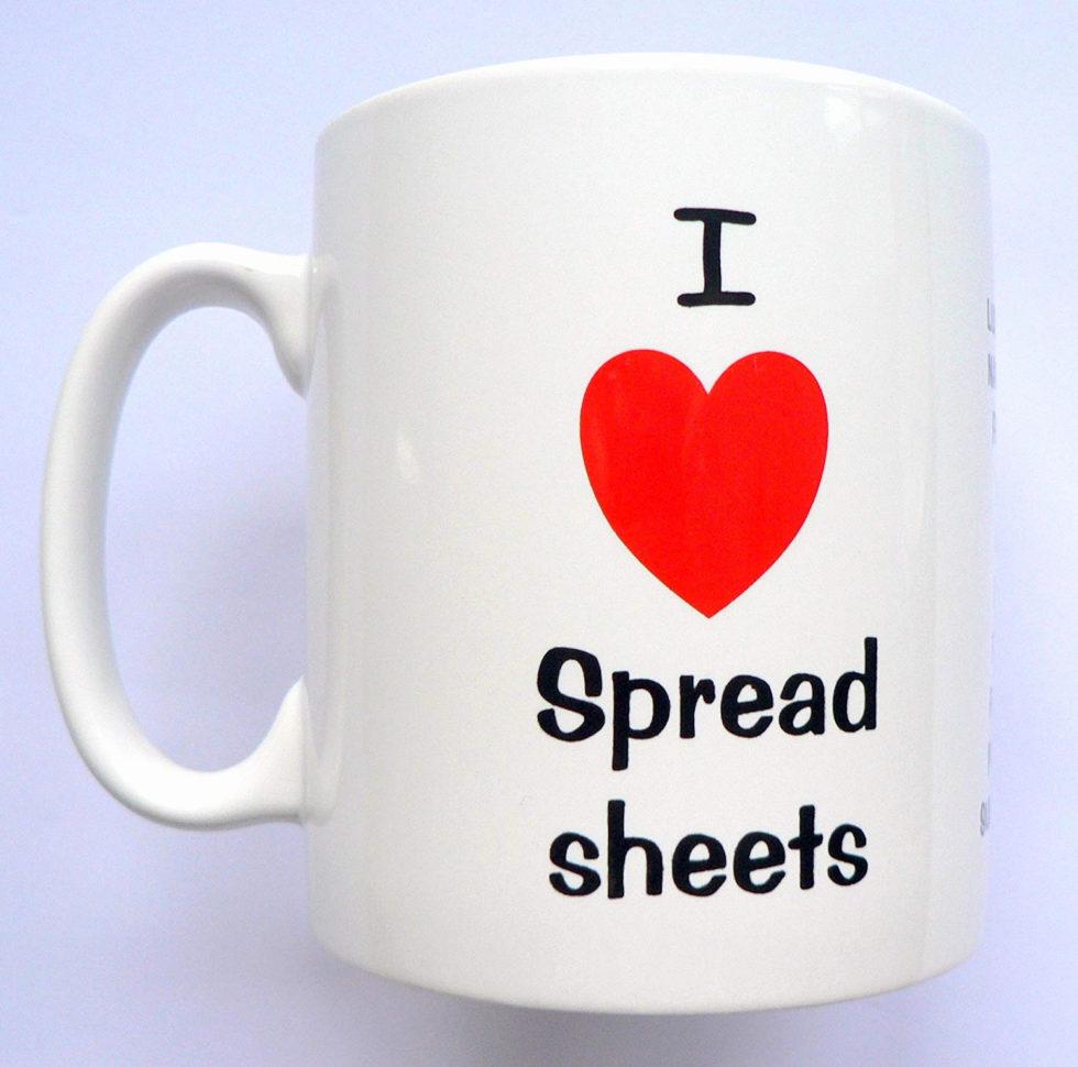 I Love Spreadsheets Mug Amazon Throughout I Love Spreadsheets Mug Fresh Lovely Excel Heart New Inspirational