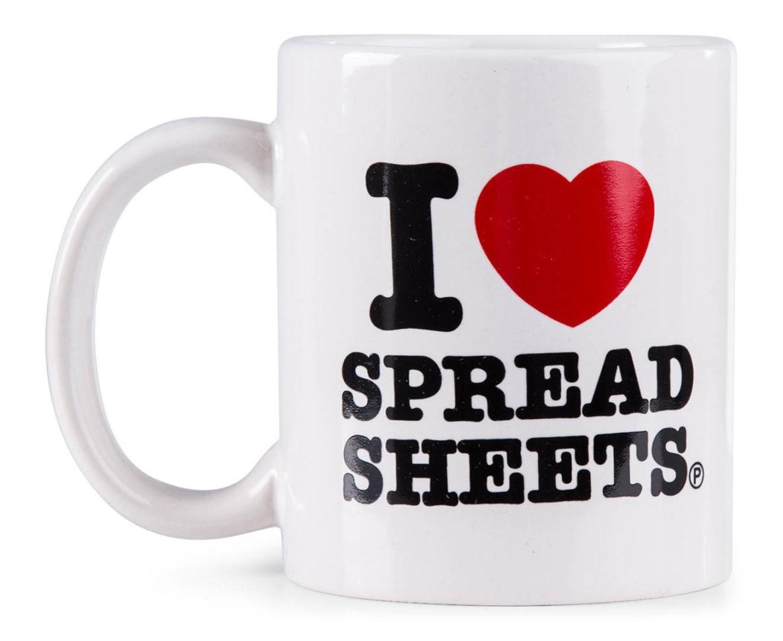 I Love Spreadsheets Mug Australia Intended For I Love Spreadsheets Mug Australia  Laobingkaisuo Together I Heart