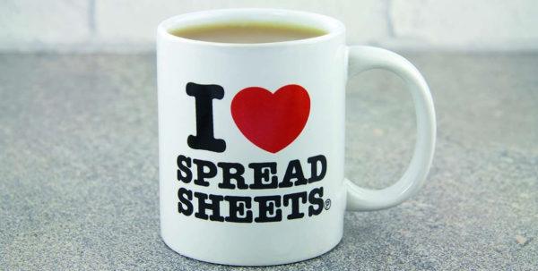 I Love Spreadsheets Mug Australia With I Love Heart Spreadsheets Novelty Mug Tea Coffee Cup Office Funny I Love Spreadsheets Mug Australia Payment Spreadsheet