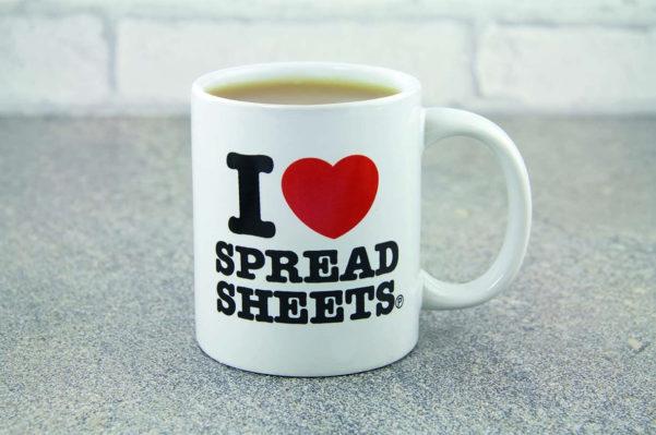I Love Spreadsheets Mug Australia With I Love Heart Spreadsheets Novelty Mug Tea Coffee Cup Office Funny