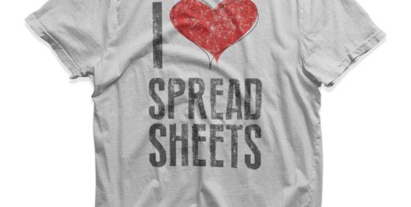 I Love Spreadsheets Shirt For I Love Spreadsheets T Shirt End Of Year Teacher Gift Present Love T