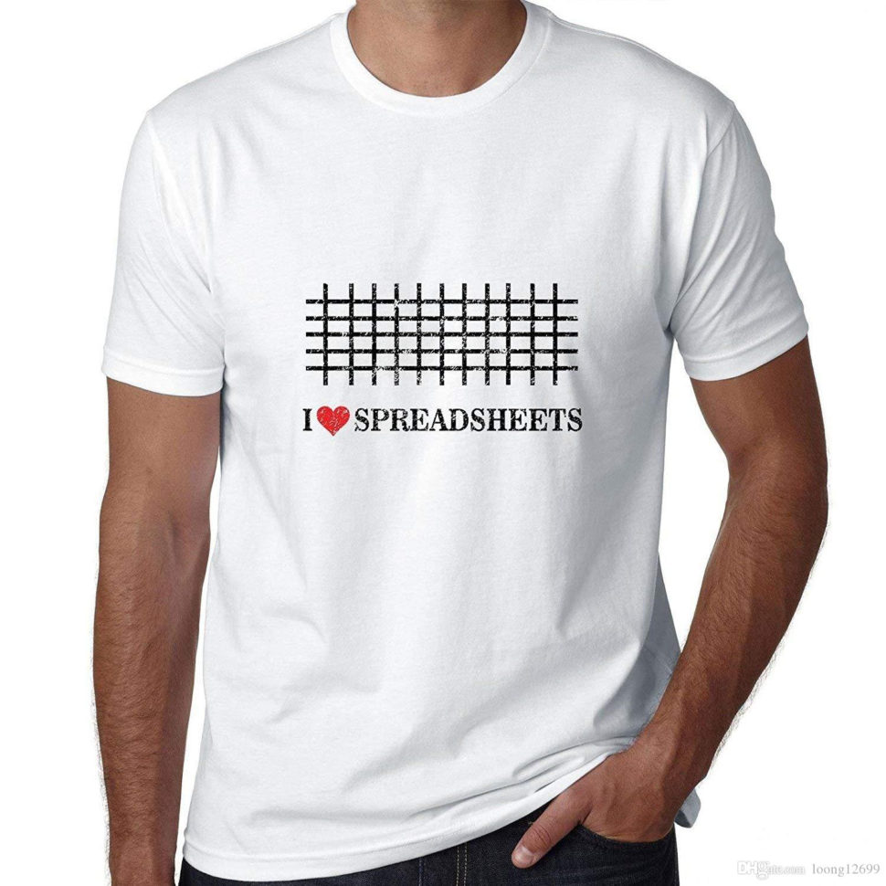I Love Spreadsheets T Shirt With I Love Spreadsheets With Cool Graphic Men's T Shirt T Shirts Design