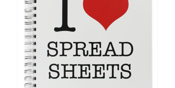 I Love Spreadsheets Throughout I Love Spreadsheets A4 Notebook  Novelties At The Works