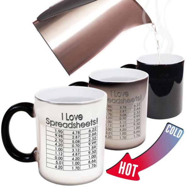 I Love Spreadsheets With Funny Mugs I Love Spreadsheets Geek Nerd Gamer Magic Novelty Mugin