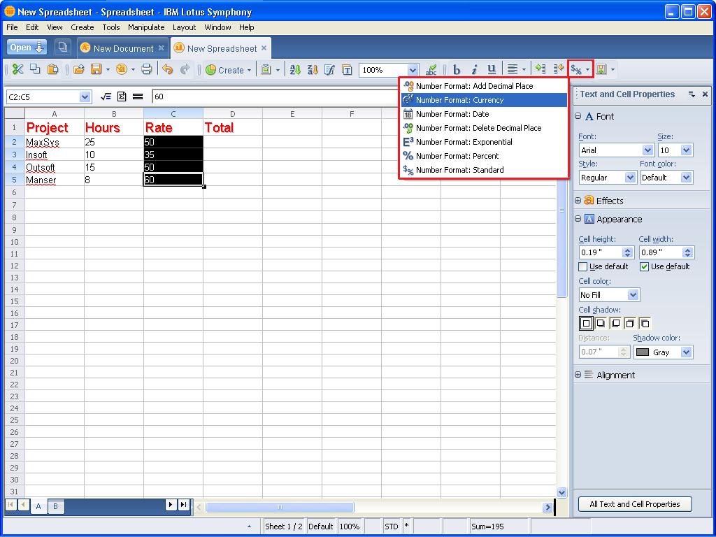 Ibm Lotus Spreadsheet Throughout Taking A Look At Ibm Lotus Symphony Spreadsheets  Page 3  Techrepublic