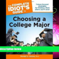 Idiot's Guide To Spreadsheets Regarding Choose Book The Complete Idiot S Guide To Choosing A College Major