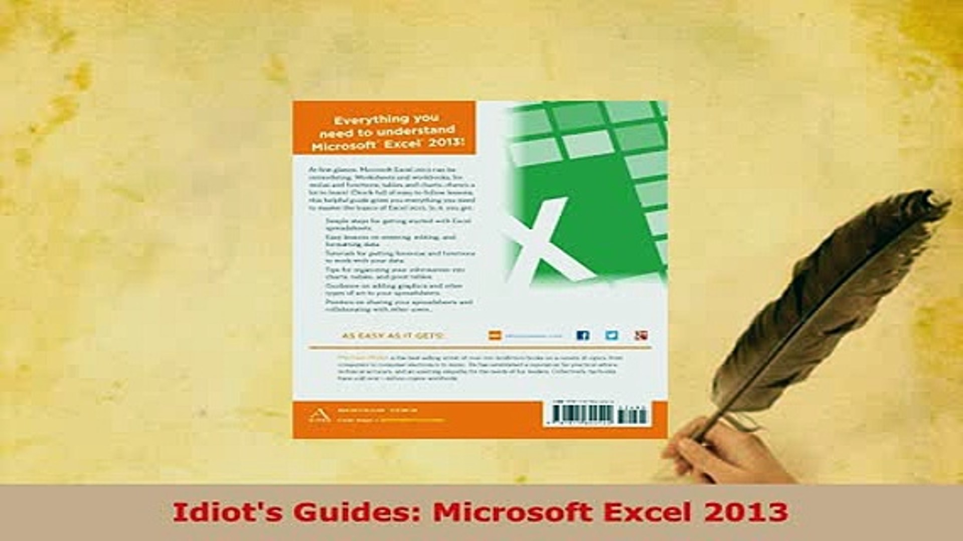 Idiot's Guide To Spreadsheets With Pdf Idiots Guides Microsoft Excel 2013 Read Online  Video Dailymotion