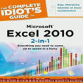 Idiot's Guide To Spreadsheets For Free Download The Complete Idiots Guide To Microsoft Excel 2010 2In1