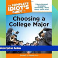 Idiot's Guide To Spreadsheets Throughout Best Price The Complete Idiot S Guide To Choosing A College Major