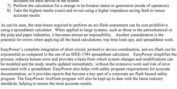Ieee 1584 Spreadsheet Calculator Intended For A Guide To Performing An Arc Flash Hazard Assessment Using Power