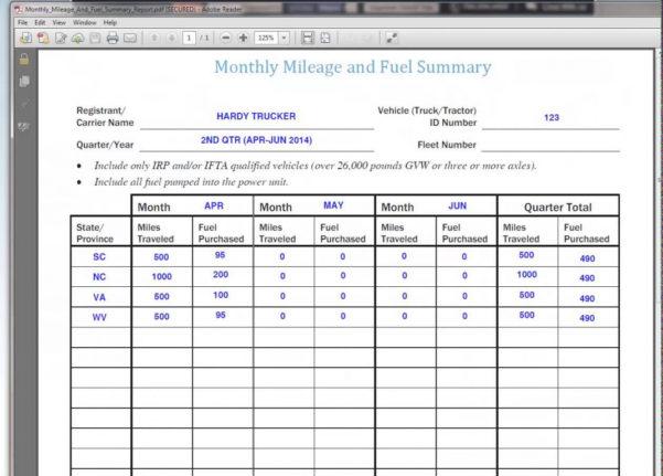 Ifta Mileage Spreadsheet Intended For Ifta Mileage Spreadsheet Custom Templates Of Mileage Trip Sheet