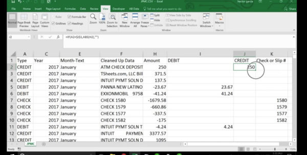 Import Excel Spreadsheet Into Quickbooks With Clean Up Bank Transaction Data In Excel To Build A Pivot Table
