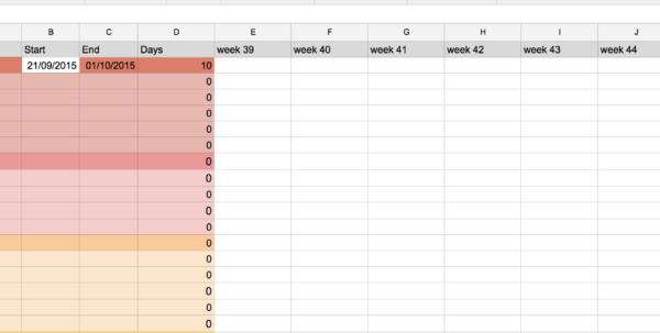 In Spreadsheet Inside How To Fill In Weeks From Date In Spreadsheet?  Stack Overflow In Spreadsheet Printable Spreadsheet