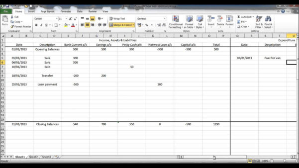 Income Expenditure Spreadsheet Excel For Free Printable Spreadsheet Excel Spreadsheet Template For Expenses