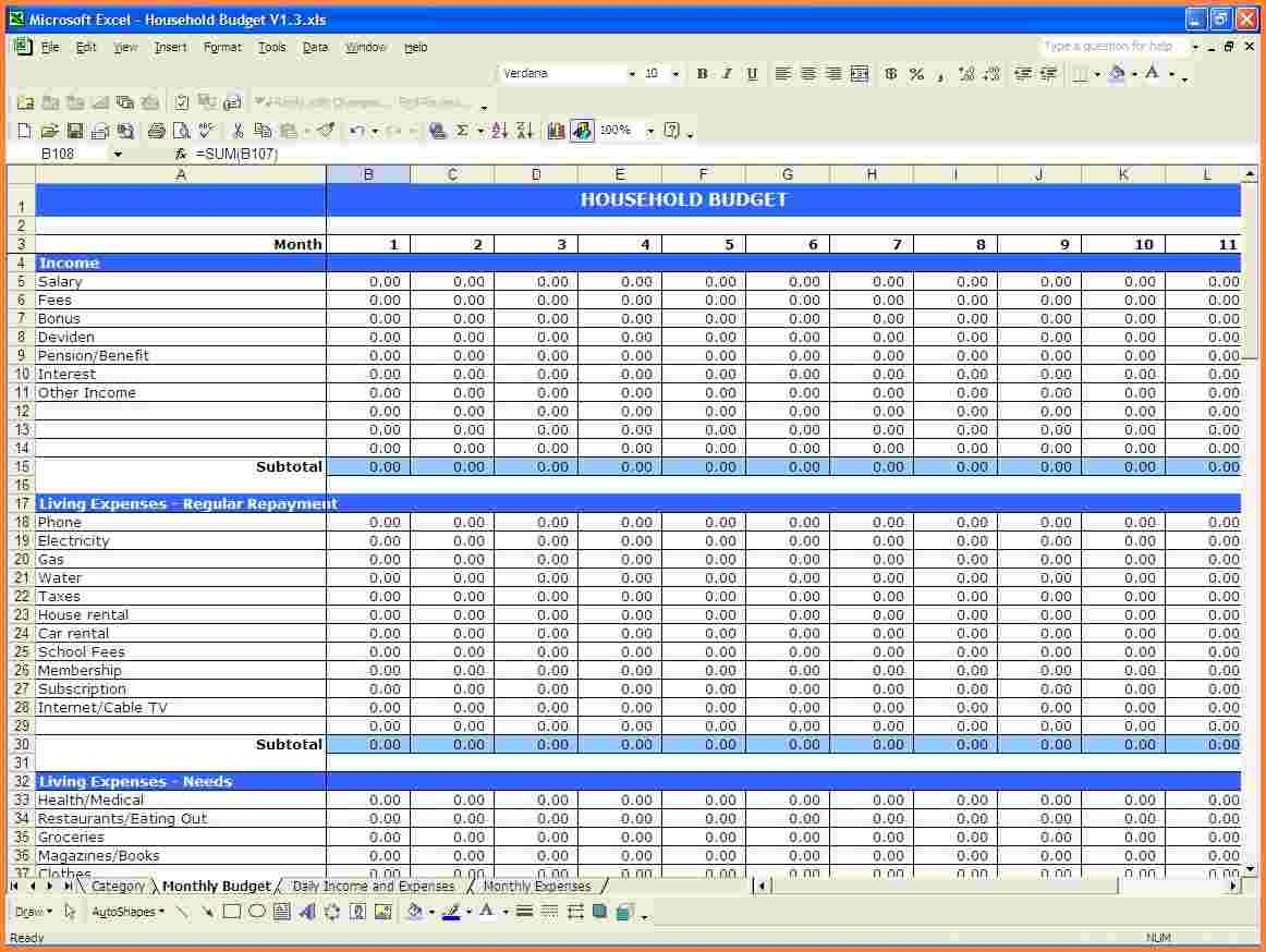 Income Expenditure Spreadsheet Excel Throughout Income And Expenditure Spreadsheet Template Simple How To Create An