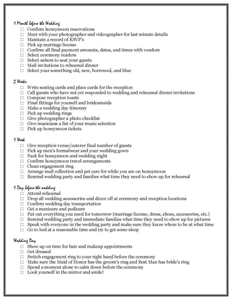 Indian Wedding Checklist Excel Spreadsheet Inside Bridal Checklist Printable Vips Ultimate Wedding Marriage India