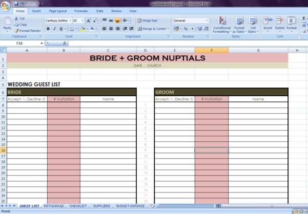 Indian Wedding Checklist Excel Spreadsheet Inside Wedding Checklist Excel