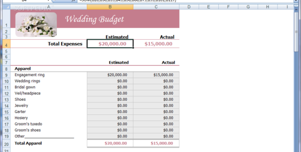 Indian Wedding Expenses Spreadsheet With Wedding Expenses List Spreadsheet  Homebiz4U2Profit