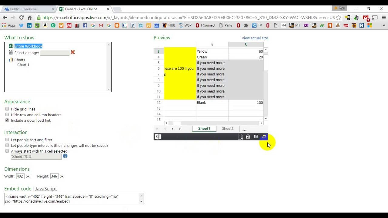 Interactive Excel Spreadsheet On Website With Embed Interactive Excel Spreadsheet In Web Page How To Into Your