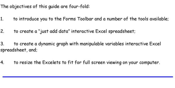 Interactive Excel Spreadsheet Regarding Interactive Excel Spreadsheets:  Pdf