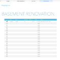 Interior Design Budget Excel Spreadsheet Regarding Basement Renovation Budget—Excel Template  Rachel Rossi