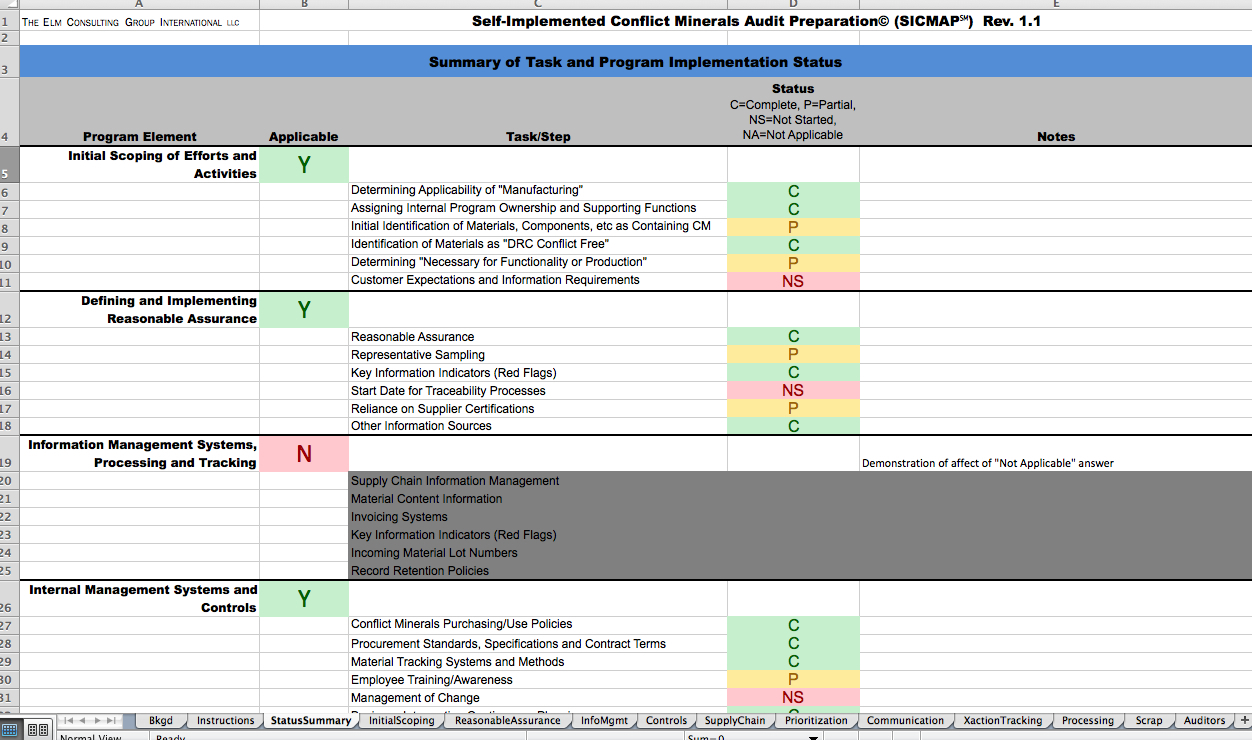 Internal Audit Tracking Spreadsheet Within Environmental Compliance  Your Ehs Connection