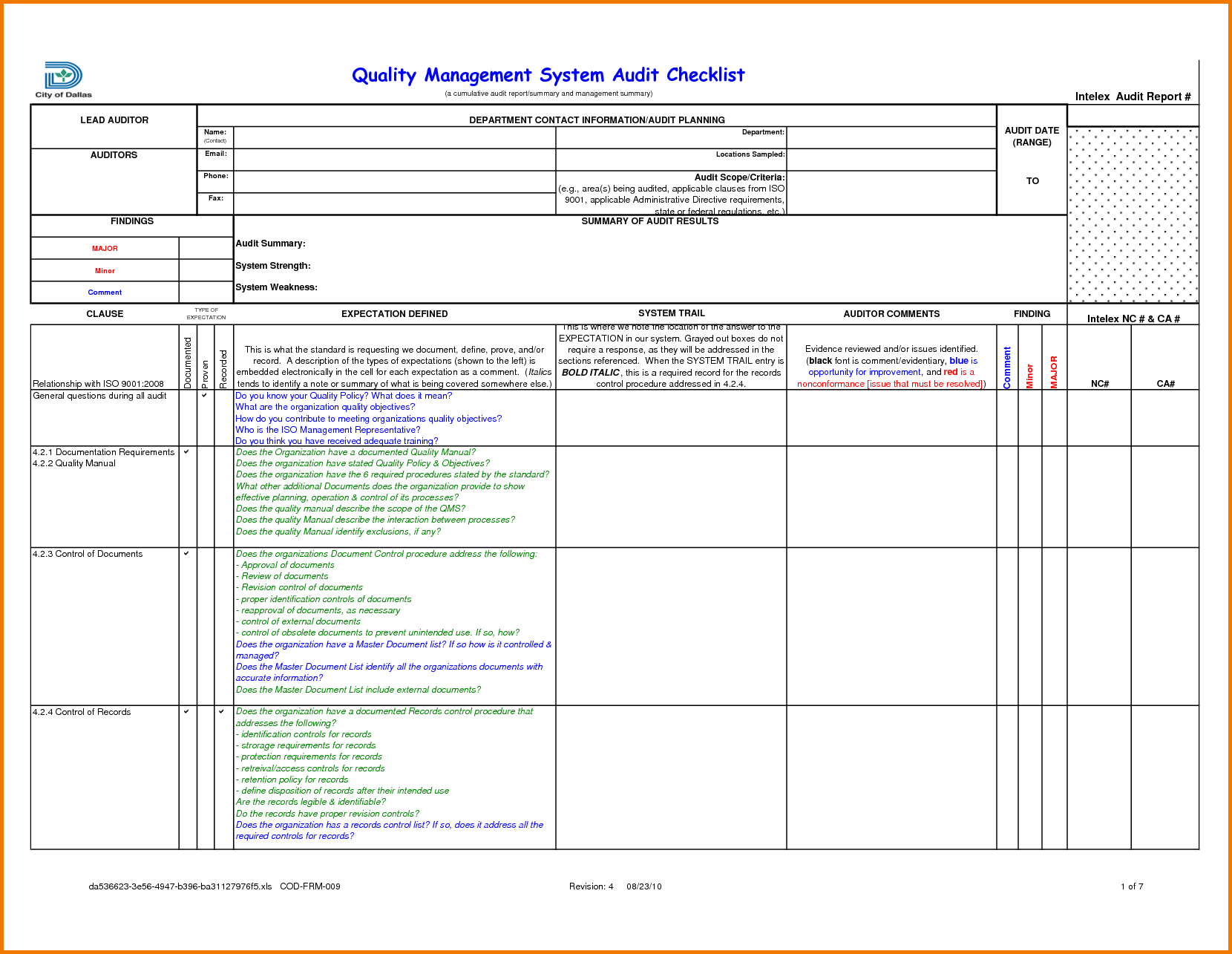 Internal Audit Tracking Spreadsheet Within Format Of Audit Report 2017 Icai Sample Qualified Malaysia 18