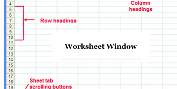 Introduction Of Spreadsheet In Ms Excel Inside Introduction Of Common Terms In Microsoft Excel Spreadsheet