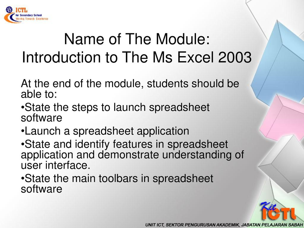 Introduction Of Spreadsheet In Ms Excel Intended For Introduction To The Ms Excel Ppt Download