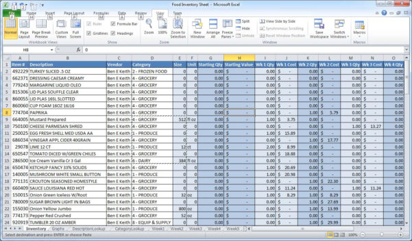 """Inventory And Cost Of Goods Sold Spreadsheet In How Can I """"group By"""" And Sum A Column In Excel?  Super User"""